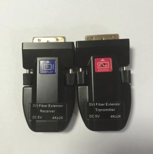 Quality Rattle  4K resolution DVI Fiber Optical Extender over single core fiber cable for sale