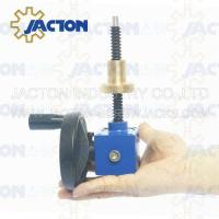 Quality Easy to use JTC5 5kn Small Worm Gear 100mm Traveling DC Mini Motorized Screw Jack for sale