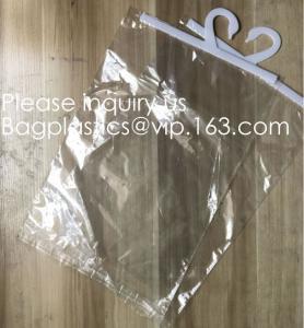 Quality Custom Logo Printing EVA Garment Underwear Clothes Packaging Transparent Button Pvc Soft Plastic Hanger Hook Bag, BAGEAS for sale