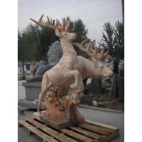 Quality Deer Animal stone sculpture for garden for sale