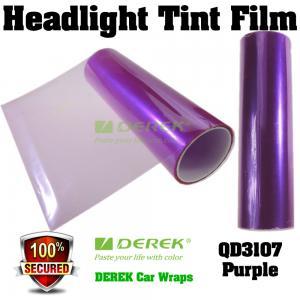 Quality Car Headlight Tint Film 3 layers 0.3*10m/roll - Purple for sale