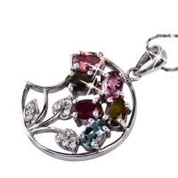 HOT - selling customed design crystal silver gemstone pendant K-BC-C765