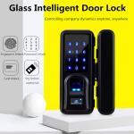 Quality Zinc Alloy Glass Door Lock , Automatic Intelligent Fingerprint Recognition Lock for sale