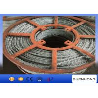 Quality 15mm Hexagon Galvanized Steel Wire Rope 12 Strands Anti Twisting for sale