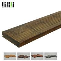 Quality Natural Wooden Deck Flooring , Solid Bamboo Flooring Traditional Float Installed Type for sale