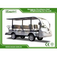 Quality Silver 11 Seater Electric Sightseeing Bus 7.5KW KDS Motor 1 Year Warranty for sale