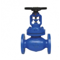 Quality 1500LB API6D ANSI Bellows Sealed Cast Iron Globe Valve Electric Actuated for sale