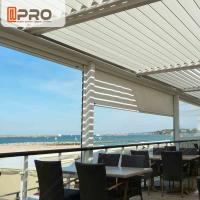 Quality Long Life Span Modern Aluminum Pergola With Electric Motor System for sale