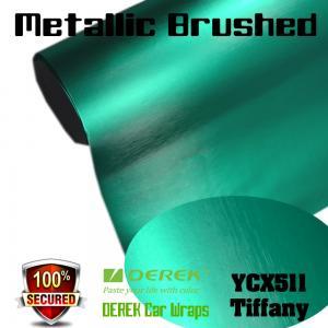 Quality Matte Metallic Brushed Vinyl Wrapping Film - Matte Metallic Brushed Tiffany for sale