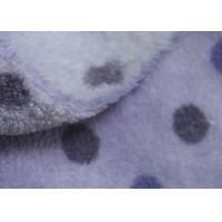 China 150D Purple Dot Print Soft Berber Fleece Fabric For Adult / Children Cloth Lining on sale