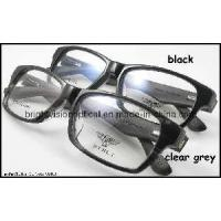 Quality Black Grey Acetate Frame Wood Temple Optical Frame (6019) for sale