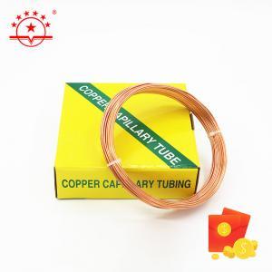 Quality OD 3.69MM 3m Length HVAC Copper Capillary Tube for sale