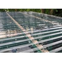 Quality Transparent Corrugated Polycarbonate Sheets For Roof Covering 0.8 - 1mm Thickness for sale