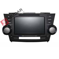 Quality 2G RAM Toyota Highlander Dvd Player , 8 Inch Double Din Head Unit Support TPMS for sale