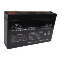 Quality Sealed Rechargeable 6V Lead Acid Battery Long Service Life Free Maintenance for sale