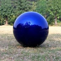 China 4 inch blue , red non - tarnishing globe Stainless Steel Gazing Ball on sale
