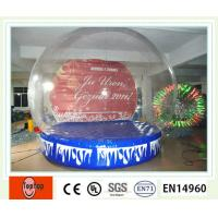 Best No Toxicity Safe Inflatable Snow Globe , Inflatable Christmas Decorations For Party / Events wholesale