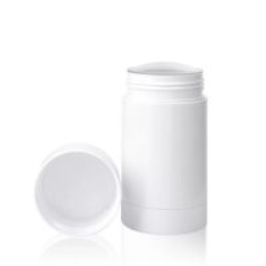 Quality 30g 50g 75g Eco-friendly Matt White Plastic PP Empty Twist-up Deodorant Bottles for sale