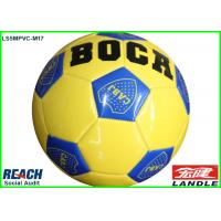 China Yellow Leather World Cup Official Soccer Balls With Country Flag on sale