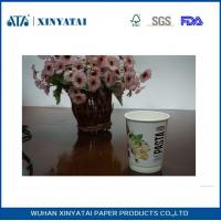 Best Logo Printed Insulated Disposable Paper Cups , Double Wall Beverage Takeaway Cups wholesale