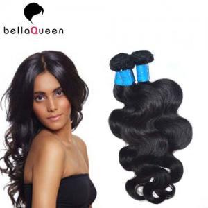 China Full Cuticle And Tangle Free European Virgin Hair Natural Black Human Hair Weft on sale