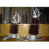 Quality 15kV - 25KV Brown Color Line Post Insulator With Clamp Top And Long Bolt for sale