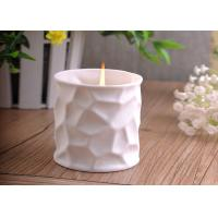 Best White Tealight Ceramic Candle Holder Embossment 290ml Large Capacity wholesale