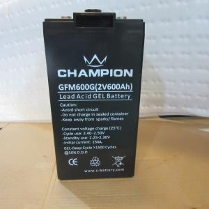 Quality Black waterproof 2v 600ah Deep Cycle Sealed Lead Acid Battery for sale