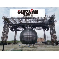 Quality LED Ball Long Span Truss Structure Heavy Duty Ceiling Lighting Truss for sale