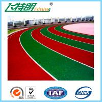 Durable Outdoor Sports Flooring All Weather Running Track Self - Knot Pattern