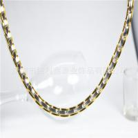 Best Stainless steel necklace Gold Radiation resisting fatigue collar Imported Healthcare Titanium steel Necklace wholesale