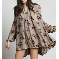 Quality Ladies fahsion print swing tunic, long sleeve short dress, blouse for sale