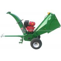 Quality Gasoline Engine Wood Chipper Shredder 5 Inches Chipping Capacity With 2 Cutting Knives for sale