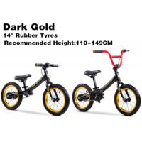 "Quality 14""  High Quality  High Carbon Steel 2in1 Kids Balance Bike No Pedal Children BMX Bicycle for 2-12 Years Dark Gold for sale"