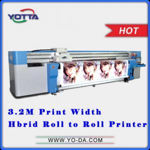 China UV Hybrid printer roll to roll non-woven fabric printer, all in one hybrid printer for car sticker, fibre cloth, etc on sale