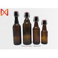 China Stock Beer Pint Bottle 500ml Capacity Matte Black With Crown Cap on sale