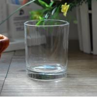 China 7oz Transparent replacement votive glass candle holders Machine Press on sale