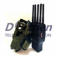 China Handheld 8 Bands Mobile Phone Signal Jammer WIFI Lojack GPS With Nylon Case on sale
