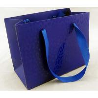 Quality Glossy Lamination Ribbion Handle Luxury Paper Shopping Bags for Clothing Boutiques for sale