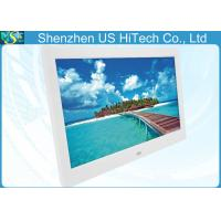 Best 10 Inch Remote Control LCD Digital Photo Frame White / Black For Advertisement wholesale