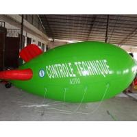 China Inflatable advertising blimp / inflatable giant helium airplane / flying green blimp on sale