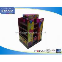Quality Display Bins , Pop up Display Tier Stand , Cardboard Retail 4 Sided Stand for sale