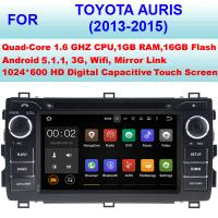 Quality Auris Toyota Radio GPS DVD Car Stereo 2013 2014 2015 Car Multimedia Navigation System for sale