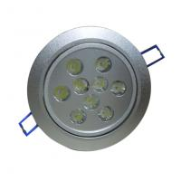 Quality Pure White 85 - 265V LED Ceiling Lamp with 9W, 810 - 900 LM, 50000hours for Hotels for sale