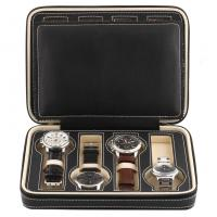 China 8 Grids Watch Display Box Faux Material Zippered Travel Watch Collector on sale