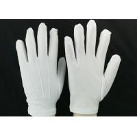 Buy cheap Bleached White Lint Free Gloves 23g / Pair Weight 100D Yarn Good Moisture from wholesalers