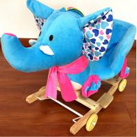 Quality Cute Plush Rocking Elephent Animal Toys With Music For Children Riding On for sale