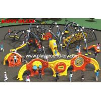 Quality Outdoor Kids Climbing Equipment , Childrens Climbing Equipment With Frames And Climbing Security Fence for sale