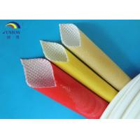 Best Oil Resistant Benzene Resistant Braided Fiberglass Sleeve with Polyurethane Saturated wholesale