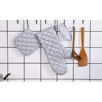 Quality Comfortable Silver Fireproof Oven Gloves For Home Restaurant Kitchen for sale